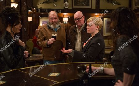 Ep 8455 Tuesday 23rd April 2019 - 2nd Ep Faith Dingle, as played by Sally Dexter, is determined to make Natalie, as played by Thea Beyleveld, change her mind about Aaron and Robert. With Bear Wolf, as played by Joshua Richards, Paddy Kirk, as played by Dominic Brunt.