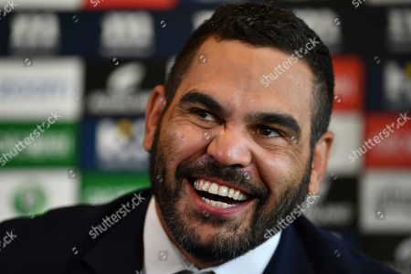 South Sydney Rabbitohs captain Greg Inglis during a press conference at Redfern Oval where Inglis announced his immediate retirement from Rugby League, in Sydney, New South Wales, Australia, 15 April 2019. Inglis has been battling injury and hasn't played for the Rabbitohs since round 2 of the NRL.