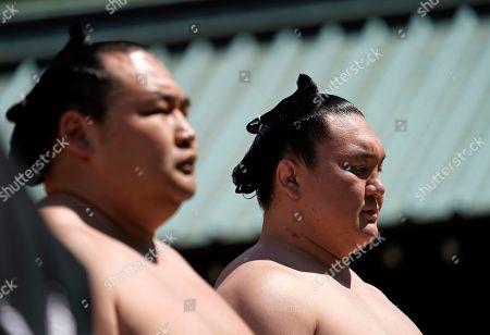 Editorial image of Honozumo Ceremonial Sumo Tournament, Tokyo, Japan - 15 Apr 2019