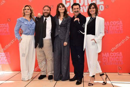 Stock Picture of Lucia Mascino Stefano Fresi Paola Cortellesi Vinicio Marchioni Claudia Pandolfi
