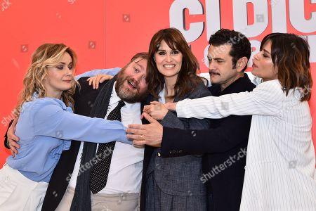 Lucia Mascino, Stefano Fresi, Paola Cortellesi, Vinicio Marchioni and Claudia Pandolfi