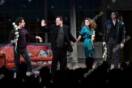 Brandon Uranowitz, Michael Mayer, Keri Russell and Adam Driver