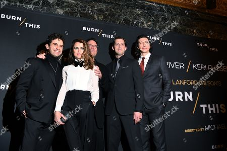 Brandon Uranowitz, Keri Russell, Michael Mayer, David Furr and Adam Driver