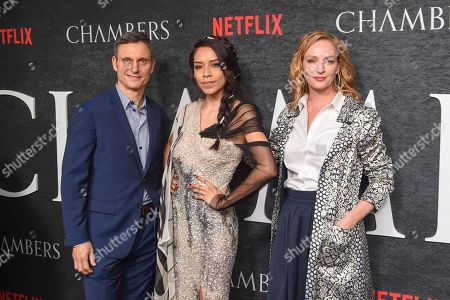 Tony Goldwyn, Sivan Alyra Rose and Uma Thurman