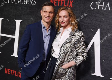 Tony Goldwyn and Uma Thurman