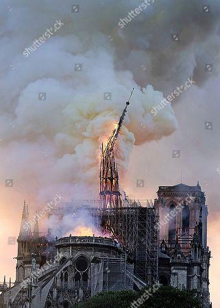 Editorial image of Notre Dame Fire, Paris, France - 15 Apr 2019