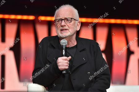 "Ian McDiarmid participates during the ""Star Wars: Phantom Menace 20th Anniversary Celebration"" panel on day 4 of the Star Wars Celebration at Wintrust Arena, in Chicago"