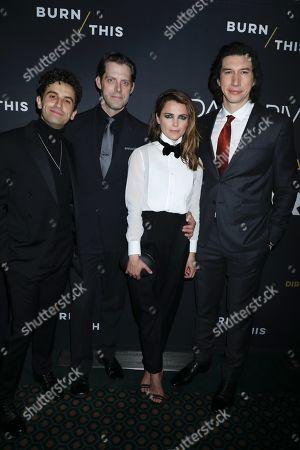 Brandon Uranowitz, David Furr, Keri Russell and Adam Driver
