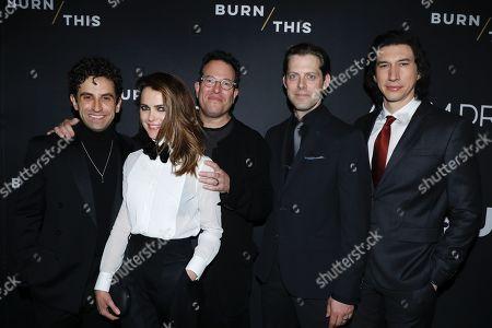 Brandon Uranowitz, Keri Russell, Michael Mayer, director, David Furr and Adam Driver