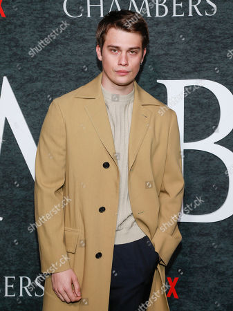 """Stock Photo of Nicholas Galitzine attends the season one premiere of Netflix's """"Chambers"""" at Metrograph, in New York"""