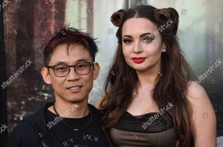 """James Wan, Ingrid Bisu. Producer James Wan, left, and Ingrid Bisu arrive at the premiere of """"The Curse of La Llorona"""", at the Egyptian Theatre in Los Angeles"""