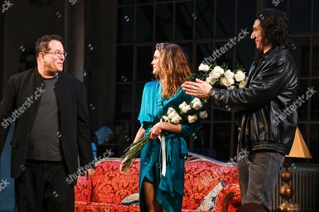 Michael Mayer, director, Keri Russell and Adam Driver