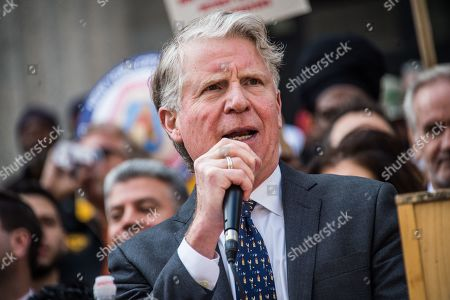 Editorial photo of Tax Fraud Protest, New York, USA - 15 Apr 2019