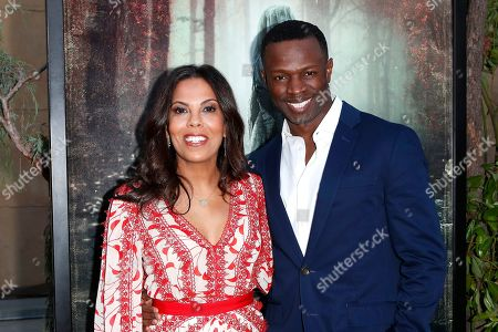 Sean Patrick Thomas (R) and his wife US actress Aonika Laurent (L) arrive for the premiere of Warner Bros' 'The Curse Of La Llorona' at the Egyptian Theatre in Hollywood, Los Angeles, California, USA, 15 April 2019. The movie will be released in the US on 19 April.