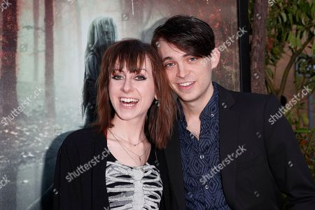 Allisyn Ashley Arm (L) and Dylan Riley Snyder (R) arrive for the premiere of Warner Bros' 'The Curse Of La Llorona' at the Egyptian Theatre in Hollywood, Los Angeles, California, USA, 15 April 2019. The movie will be released in the US on 19 April.