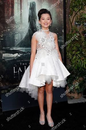 Stock Picture of Jaynee-Lynne Kinchen arrives for the premiere of Warner Bros' 'The Curse Of La Llorona' at the Egyptian Theatre in Hollywood, Los Angeles, California, USA, 15 April 2019. The movie will be released in the US on 19 April.