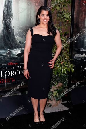 Marisol Ramirez arrives for the premiere of Warner Bros' 'The Curse Of La Llorona' at the Egyptian Theatre in Hollywood, Los Angeles, California, USA, 15 April 2019. The movie will be released in the US on 19 April.