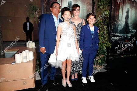 Raymond Cruz, Jaynee Lynn Kinchen, Linda Cardellini and Roman Christou arrive for the premiere of Warner Bros' 'The Curse Of La Llorona' at the Egyptian Theatre in Hollywood, Los Angeles, California, USA, 15 April 2019. The movie will be released in the US on 19 April.