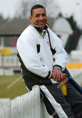 Stock Photo of Phil Defreitas - Philip Anthony Jason Defreitas - England Cricketer - Born In Dominica. Cricket  Philip De Freitas