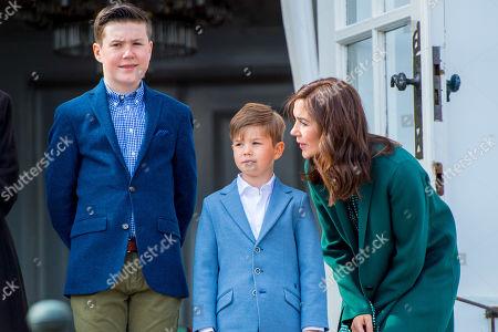 Crown Princess Mary, with Prince Christian and Prince Vincent
