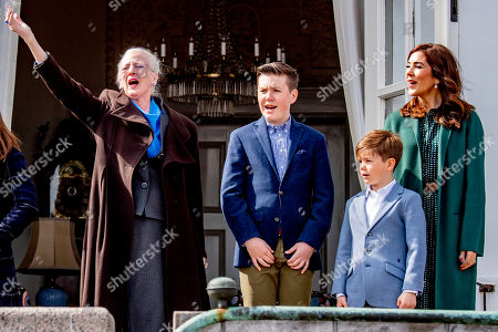 Queen Margrethe II, Prince Vincent, Prince Christian and Crown Princess Mary