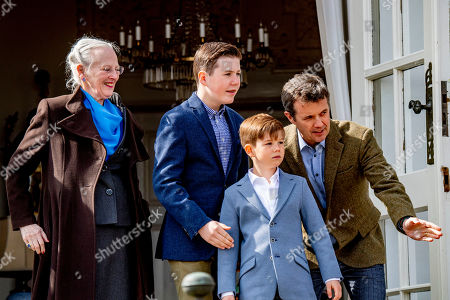 Queen Margrethe II, Prince Vincent, Prince Christian and Crown Prince Frederik