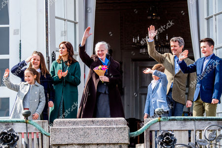 Princess Isabella, Princess Josephine, Crown Princess Mary, Queen Margrethe II, Prince Christian, Crown Prince Frederik and Prince Vincent