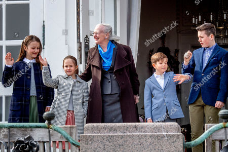 Princess Isabella, Princess Josephine, Queen Margrethe II, Prince Christian and Prince Vincent