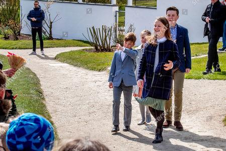 Stock Photo of Prince Christian, Princess Isabella, Princess Josephine and Prince Vincent,