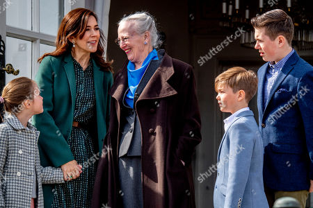 Princess Isabella, Crown Princess Mary, Queen Margrethe II, Prince Christian and Prince Vincent