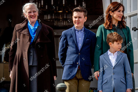 Queen Margrethe II, Prince Vincent, Crown Princess Mary and Prince Christian