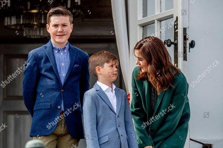 Prince Vincent, Prince Christian and Crown Princess Mary