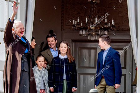 Queen Margrethe II, Princess Isabella, Crown Prince Frederik, Princess Josephine and Prince Vincent