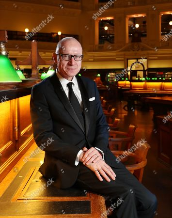 Stock Image of Chief Executive of News Corporation, Australian journalist Robert Thomson poses for a photograph before delivering the 2019 Keith Murdoch Oration at State Library Victoria in Melbourne, Victoria, Australia, 16 April 2019.