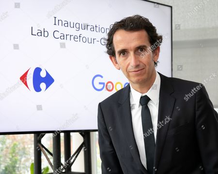 Stock Photo of Alexandre Bompard, CEO of Carrefour. Inauguration of the Carrefour-Google Lab. Carrefour inaugurates its laboratory dedicated to innovation, a 2,500 m² space located on the 5th floor of a WeWork building.