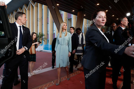 White House senior adviser Ivanka Trump, center, leave the Presidential Palace after meeting with Ivory Coast Vice President Daniel Kablan Duncan, in Abidjan, Ivory Coast. Trump is visiting Ethiopia and Ivory Coast to promote a White House global economic program for women