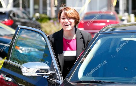 Andrew Gillum. Democratic presidential candidate Amy Klobuchar gets into a car after a roundtable discussion on health care, in Miami. Klobuchar met with local medical professionals and advocates to talk about the cost of prescription drugs access to healthcare