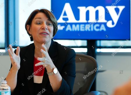 Andrew Gillum. Democratic presidential candidate Amy Klobuchar speaks during a roundtable discussion on health care, in Miami. Klobuchar met with local medical professionals and advocates to talk about the cost of prescription drugs access to healthcare