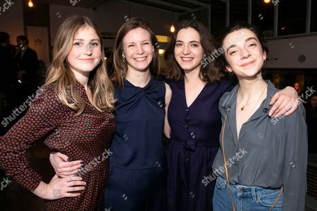 Ria Zmitrowicz (Irina Sergeyevna), Rebecca Frecknall (Director), Pearl Chanda (Masha Sergeyevna) and Patsy Ferran (Olga Sergeyevna)