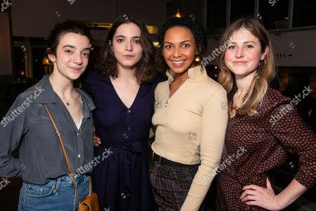 Patsy Ferran (Olga Sergeyevna), Pearl Chanda (Masha Sergeyevna), Lois Chimimba (Natasha Ivanovna) and Ria Zmitrowicz (Irina Sergeyevna)