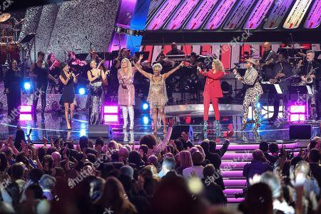 Halle Bailey, Chloe Bailey, Meghan Trainor, Thelma Houston, Tori Kelly and Fantasia Barrino