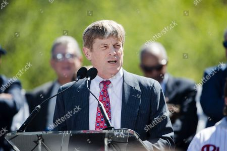 Philadelphia Phillies managing partner John Middleton speaks during a Major League Baseball news conference, on Independence Mall in Philadelphia. Baseball's 2026 All-Star Game will be played in Philadelphia to mark the 250th anniversary of the Declaration of Independence