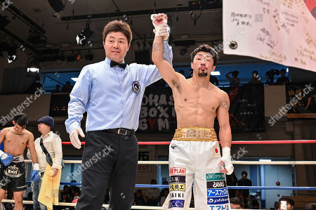 Editorial picture of 10R Super flyweight bout, Tokyo, Japan - 08 Apr 2019