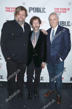 Stock Picture of Oskar Eustis, Tim Blake Nelson and Doug Hughes