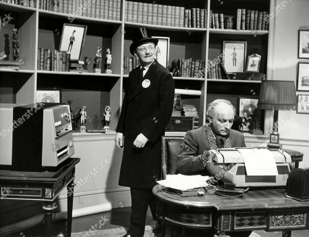 Colin Gordon, as Number Two, with Peter Howell, as The Professor
