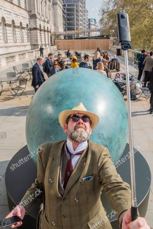 Gavin Turk - Portrait of an Egg, a public photography project for Photo London - launched at Somerset House.