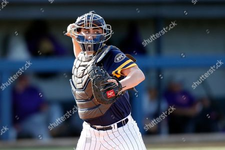 Stock Image of Murray State's Joe McMahon throws to second base during an NCAA college baseball game against Evansville, in Murray, Ky