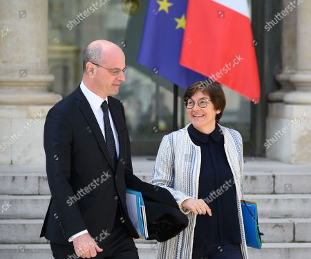 French Education Minister Jean-Michel Blanquer and French Overseas Minister Annick Girardin.