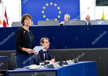 Belgian Politician, Marianne Thyssen during the debate