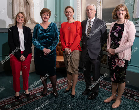 Stock Picture of Pictured from (L-R) Siobhan Leonard (Director of Anti-Doping and Ethics Sport Ireland), Caroline Murphy (Chairperson of Anti-Doping Committee Sport Ireland), Canadian Olympic Gold Medallist and Chair of the WADA Athlete Committee, Beckie Scott, John Treacy (CEO, Sport Ireland) and Dr. Una May (Director of Participation and Ethics Sport Ireland)